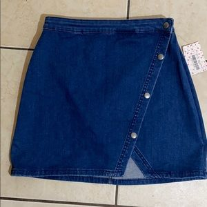 Free People clubhouse blue denim skirt NWT